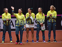 April 18, 2015, Netherlands, Den Bosch, Maaspoort, Fedcup Netherlands-Australia,  Presentation, Australian team<br /> Photo: Tennisimages/Henk Koster