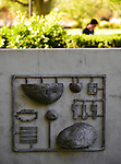 Garden City, New York, U.S. - August 29, 2014 - Adelphi University campus artwork, outdoors in summer
