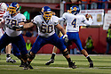 25 September, 2010: South Dakota State offensive linesman Ryan McKnight #60 pass blocking against Nebraska at Memorial Stadium in Lincoln, Nebraska. Nebraska defeated South Dakota State 17 to 3.