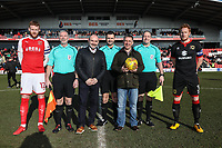 Centre circle photo ahead of the Sky Bet League 1 match between Fleetwood Town and MK Dons at Highbury Stadium, Fleetwood, England on 24 February 2018. Photo by David Horn / PRiME Media Images