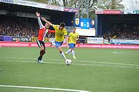VOETBAL: LEEUWARDEN: 26-10-2014, Canbuurstadion, Cambuur - Feyenoord, uitslag 0-1, Karim El Ahmadi (Feyenoor | #8), Martijn Barto (Cambuur | #9). ©foto Martin de Jong