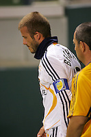 LA Galaxy midfielder David Beckham (23) after being injured during the SuperLiga finals between the Los Angeles Galaxy of MLS and CF Pachuca of FMF at the Home Depot Center, Carson, CA, on August 29, 2007. Pachuca wins 4-3 on penalty kicks after the game finished in a 1-1 tie.