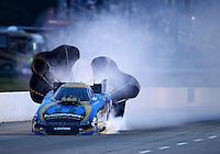 May 15, 2015; Commerce, GA, USA; NHRA funny car driver Matt Hagan during qualifying for the Southern Nationals at Atlanta Dragway. Mandatory Credit: Mark J. Rebilas-USA TODAY Sports