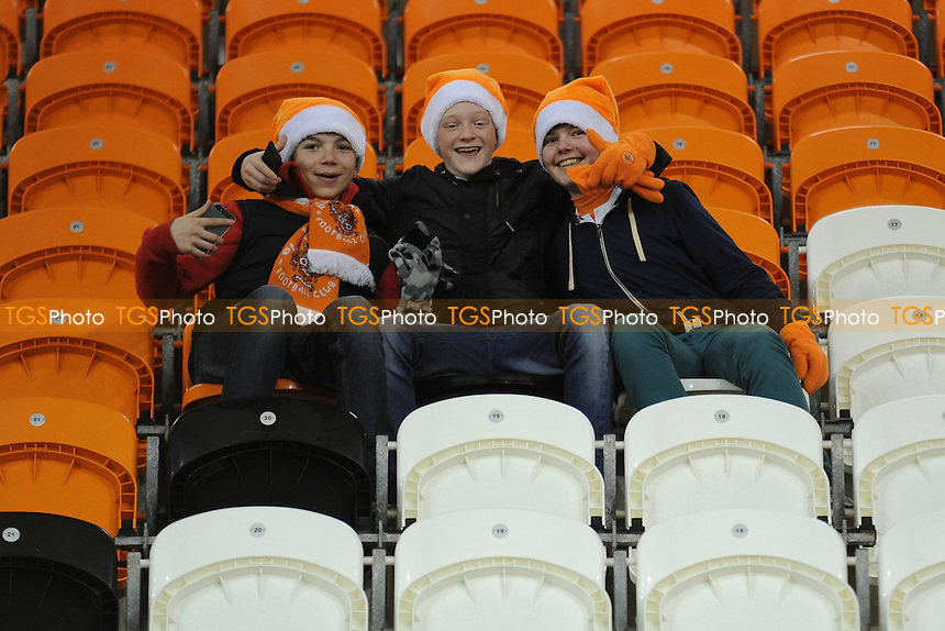 Blackpool fans gather inside the stadium - Blackpool vs Leeds United - Sky Bet Championship Football at Bloomfield Road, Blackpool, Lancashire - 26/12/13 - MANDATORY CREDIT: Greig Bertram/TGSPHOTO - Self billing applies where appropriate - 0845 094 6026 - contact@tgsphoto.co.uk - NO UNPAID USE