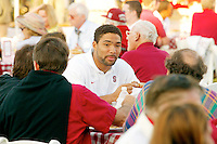 Teyo Johnson at the football welcome dinner in August 2002 in the Arrillaga Plaza in Stanford, CA.