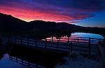 A Sierra sunset, seen from Mottsville Lane in Gardnerville, Nev., on Saturday, June 8, 2013. <br /> Photo by Cathleen Allison