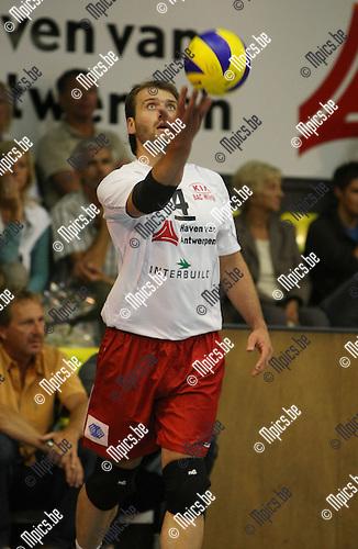 2009-09-06 / Volleybal / seizoen 2009-2010 / Topsport Antwerpen / Christof Van Goethem..Foto: Maarten Straetemans (SMB)