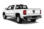 Car pictures of rear three quarter view of 2017 Chevrolet Silverado-1500 LT-Crew 4 Door Pick-up Angular Rear