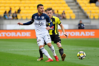 Melbourne Victory&rsquo;s Kosta Barborouses in action during the A League - Wellington Phoenix v Melbourne Victory FC at Westpac Stadium, Wellington, New Zealand on Sunday 3 December.<br /> Photo by Masanori Udagawa. <br /> www.photowellington.photoshelter.com