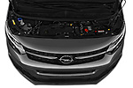 Car stock 2020 Opel Zafira-Life Business-Innovation 5 Door Mini Van engine high angle detail view