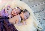 Beautiful Twins Sophia and Isla at 4 weeks old - Newborn Photographer West Sussex