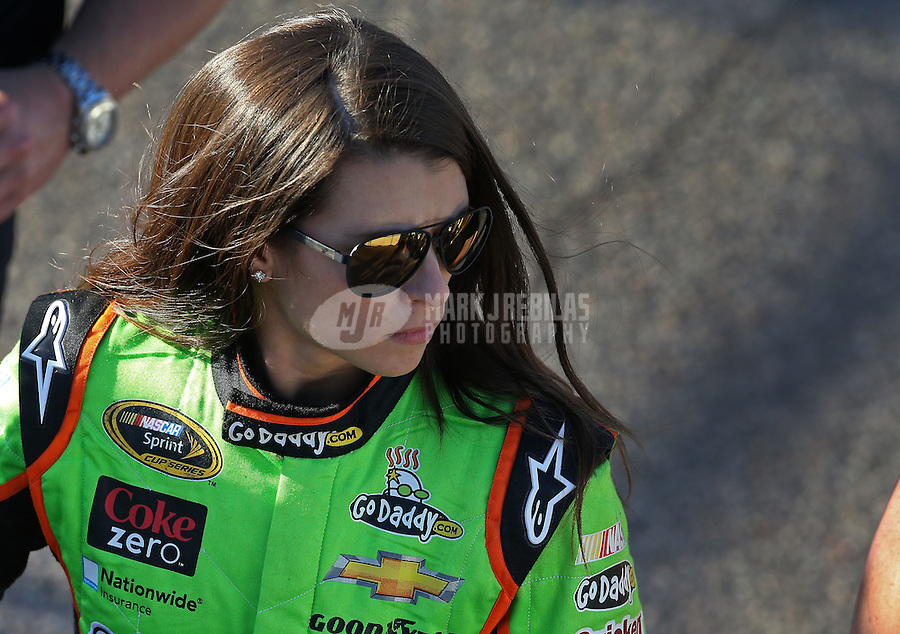Mar. 1, 2013; Avondale, AZ, USA; NASCAR Sprint Cup Series driver Danica Patrick during qualifying for the Subway Fresh Fit 500 at Phoenix International Raceway. Mandatory Credit: Mark J. Rebilas-