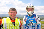 NO 1: Chairman of the Kerry Off-Road Club John Moloney with the No. 1 rider in Ireland at the moment, Stewart Edmonds from Dublin.   Copyright Kerry's Eye 2008