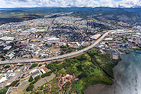 An aerial view of Pearl City, O'ahu.