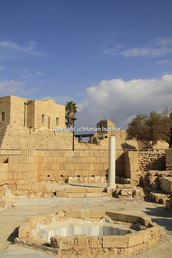 Israel, Sharon region, the Byzantine Governer's palace bathhouse