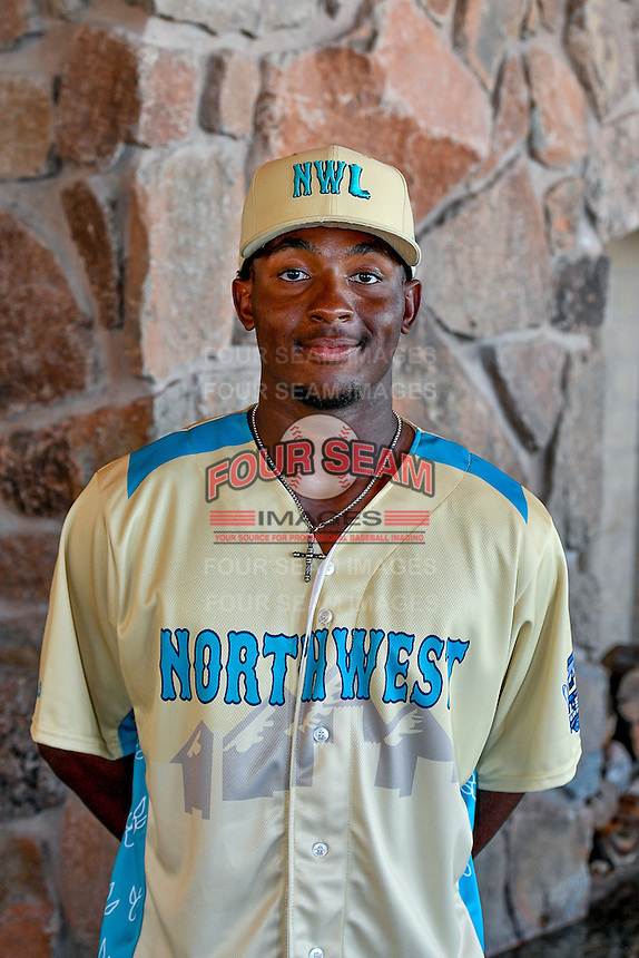 Chad Smith (24) of the Spokane Indians and the Northwest League All-Stars poses for a photo during activities before the 2nd Annual Northwest League-Pioneer League All-Star Game at Snowbasin Resort on August 1, 2016 in Ogden, Utah. (Stephen Smith/Four Seam Images)
