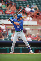 Hartford Yard Goats right fielder Drew Weeks (11) at bat during a game against the Erie SeaWolves on August 6, 2017 at UPMC Park in Erie, Pennsylvania.  Erie defeated Hartford 9-5.  (Mike Janes/Four Seam Images)