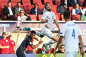 June 19th 2017, Kielce, Poland; UEFA European U-21 football championships, England versus Slovakia; Marek Rodak (SLO) with a late header on goal