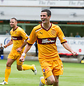 MOTHERWELL'S JAMIE MURPHY CELEBRATES AFTER HE  SCORES MOTHERWELL'S SECOND GOAL