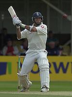 31/05/2002.Sport -Cricket - 2nd NPower Test -Second Day.England vs Sri Lanka.Nasser Hussain setting himself for the hook [Mandatory Credit Peter Spurrier:Intersport Images]