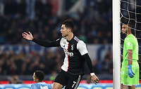Football, Serie A: S.S. Lazio - Juventus Olympic stadium, Rome, December 7, 2019. <br /> Juventus' Cristiano Ronaldo (r) celebrates after scoring during the Italian Serie A football match between S.S. Lazio and Juventus at Rome's Olympic stadium, Rome on December 7, 2019.<br /> UPDATE IMAGES PRESS/Isabella Bonotto