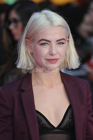LONDON, ENGLAND - APRIL 26: Jess Woodley attends the European premiere of Captain America: Civil War at Westfield Shopping Centre on April 26, 2016 in London, England.<br /> CAP/BEL<br /> &copy;BEL/Capital Pictures /MediaPunch ***NORTH AMERICAN AND SOUTH AMERICAN SALES ONLY***