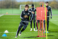 Wednesday  27 April 2016<br /> Pictured: Ki Sung-Yueng of Swansea City in action during training<br /> Re: Swansea City Training Session at the Fairwood Ground, Swansea, Wales, UK