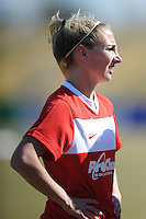 Boyds, Maryland - March 15, 2014. Cecilie Sandvej of the Washington Spirit. The Washington Spirit during the Meet the Team at the Maryland SoccerPlex.