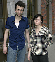 Montreal (Qc) CANADA - May 2010 -The Trotsky written and directed by <br /> Jacob Tierney ; Jay Baruchel, Emily Hampshire