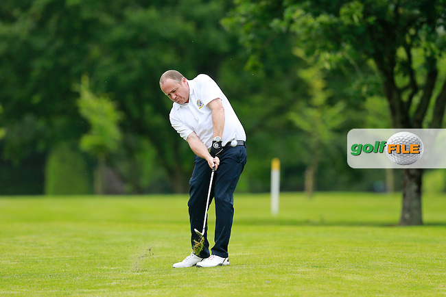Paddy Canning (Malahide) during the semi final of the Pierce Purcell Shield 2015 Leinster branch Sponsored by AIG, Portarlington Golf Club, Portarlington, Co Laois.  26/07/2015.<br /> Picture: Golffile | Fran Caffrey<br /> <br /> <br /> All photo usage must carry mandatory copyright credit (&copy; Golffile | Fran Caffrey)