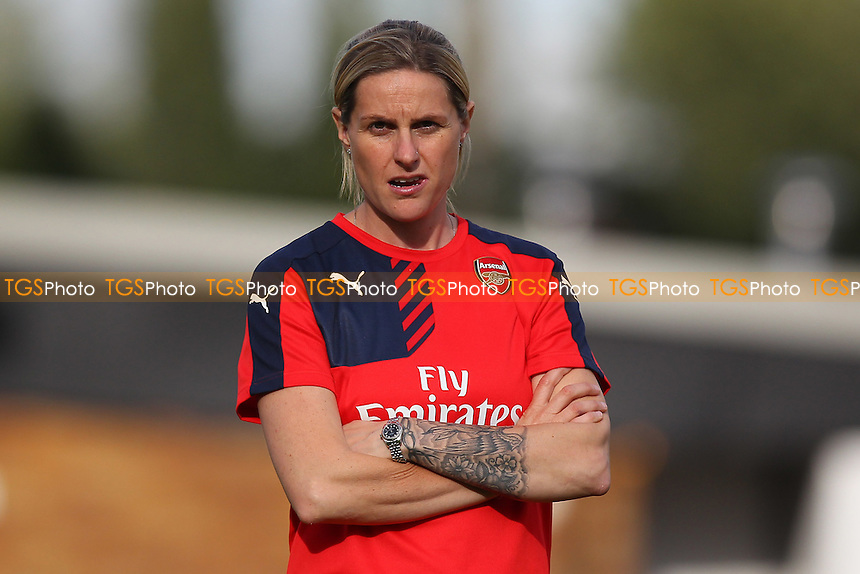 Kelly Smith of Arsenal Ladies looks on ahead of kick-off at Meadow Park
