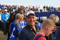 Fans at the 18th green during the Sunday Singles of the Ryder Cup, Le Golf National, Ile-de-France, France. 30/09/2018.<br /> Picture Thos Caffrey / Golffile.ie<br /> <br /> All photo usage must carry mandatory copyright credit (© Golffile | Thos Caffrey