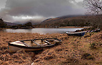 Fishing boats rest on the shore of the Upper Lake, Killarney on Thursday making for a serence winter setting ahead of the fishing season which opens on the 17th..Picture by Don MacMonagle