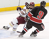 Nathan Gerbe, Jacques Perreault - The Boston College Eagles defeated Northeastern University Huskies 5-3 on Saturday, November 19, 2005, at Kelley Rink in Conte Forum at Chestnut Hill, MA.