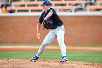 Florida Gators pitcher Jack Leftwich (23) in action against the Tennessee Volunteers in Southeastern Conference play at Lindsey Nelson Stadium in Knoxville, Tennessee, on April 8, 2018. Tennessee beat Florida 6-4. (Danny Parker/Four Seam Images)