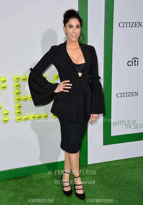 Sarah Silverman at the premiere for &quot;Battle of the Sexes&quot; at the Regency Village Theatre, Westwood, Los Angeles, USA 16 September  2017<br /> Picture: Paul Smith/Featureflash/SilverHub 0208 004 5359 sales@silverhubmedia.com