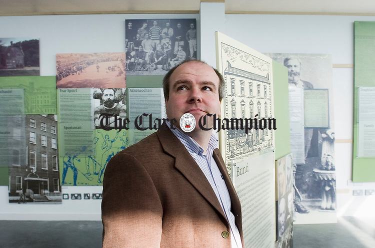 Paddy Maher, the newly appointed manager of the Michael Cusack Centre at Carron. Photograph by John Kelly.