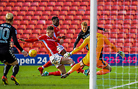 Leeds United's forward Samu Saiz (21) tries to cut the ball back during the Sky Bet Championship match between Barnsley and Leeds United at Oakwell, Barnsley, England on 25 November 2017. Photo by Stephen Buckley / PRiME Media Images.