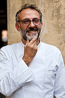 Massimo Bottura, 3 Michelin star chef and owner of Osteria Francescana in Modena, Emilia Romagna, Italy