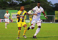 BARRANCABERMEJA  - COLOMBIA, 12-10- 2019.Alianza Petrolera y Deportes Tolima  durante partido por la fecha 17 de la Liga Águila II 2019 jugado en el estadio Daniel Villa Zapata de la ciudad de Barrancabermeja. /Action game between Alianza Petrolera  and Deportes Tolima  during the match for the date 17 of the Liga Aguila II 2019 played at the Daniel Villa Zapata Stadium in Barrancabermeja  city. Photo: VizzorImage / José Martínez  / Contribuidor
