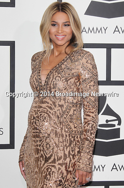 Pictured: Ciara<br /> Mandatory Credit &copy; Frederick Taylor/Broadimage<br /> 56th Annual Grammy Awards - Red Carpet<br /> <br /> 1/26/14, Los Angeles, California, United States of America<br /> <br /> Broadimage Newswire<br /> Los Angeles 1+  (310) 301-1027<br /> New York      1+  (646) 827-9134<br /> sales@broadimage.com<br /> http://www.broadimage.com
