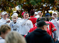 Penn State fans help Ohio State fans before Saturday's NCAA Division I football game at Beaver Stadium in University Park, PA on October 25, 2014. (Columbus Dispatch photo by Jonathan Quilter)