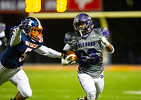Fayetteville ruuning back Kameron Ingram (23) runs the ball for a long gain against Rogers Heritage at Gates Stadium, Rogers, AR on November 1, 2019 / Special to NWA Democrat Gazette David Beach