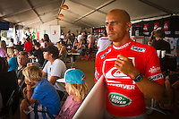 SNAPPER ROCKS, Queensland/Australia (Sunday, March 4, 2012) kelly Slater (USA).  The final day of the Quiksilver and Roxy Pro Gold Coast presented by Land Rover culminated today with perennial ASP World Title threat Taj Burrow (AUS), 33, and four-time ASP Womens World Champion Stephanie Gilmore (AUS), 24, taking the respective wins in clean two-to-three foot (1 metre) waves at the primary venue of Snapper Rocks.. .The opening stop on the 2012 ASP World Championship Tour, the Quiksilver and Roxy Pro Gold Coast enjoyed sunny weather, light winds and a capacity crowd for the final day of competition, with the worlds best surfers putting on a spectacular display of high-performance surfing.. .Burrow defeated dangerous South American Adriano De Souza (BRA), 25, in a Final that came down to the wire. De Souza caught a wave in the dying minutes and launched into a massive air-reverse, requiring a 7.87 out of a possible 10 to take the lead. The judges deliberated until after the siren sounded and when it was announced that De Souza came a mere 0.27 short, Burrow was chaired up the beach and declared the 2012 Quiksilver Pro Gold Coast champion..Stephanie Gilmore (AUS), 24, reigning four-time ASP Womens World Champion, her fourth Roxy Pro Gold Coast title after defeating ASP Top 17 sophomore Laura Enever (AUS), 20, in a hard-fought Final. Gilmore was dominant throughout the event, posting scores in the excellent range in every encounter throughout the draw. Gilmore jumps back to No. 1 on the ASP Womens World Championship Tour ratings, a spot she lost at this event last year after holding it for four years.. Photo: joliphotos.com