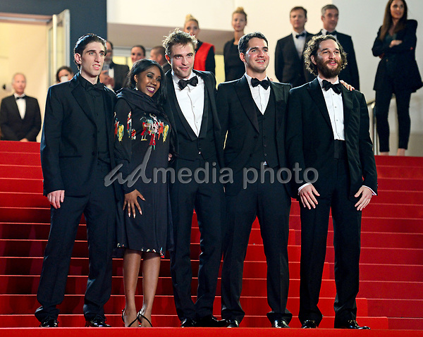 """25 May 2017 - Cannes, France - Buddy Duress, Taliah Webster, Robert Pattinson, Benny Safdie, Jo. """"Good Time"""" Premiere - The 70th Annual Cannes Film Festival. Photo Credit: Jan Sauerwein/face to face/AdMedia"""