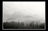 Malcesine lies on the shores of Lake Garda, 40 km Northwest of Verona, Italy