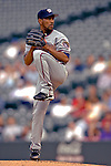 9 September 2006: Ramon Ortiz, pitcher for the Washington Nationals, in action against the Colorado Rockies. The Rockies defeated the Nationals 9-5 at Coors Field in Denver, Colorado.&#xA;&#xA;Mandatory Photo Credit: Ed Wolfstein.<br />