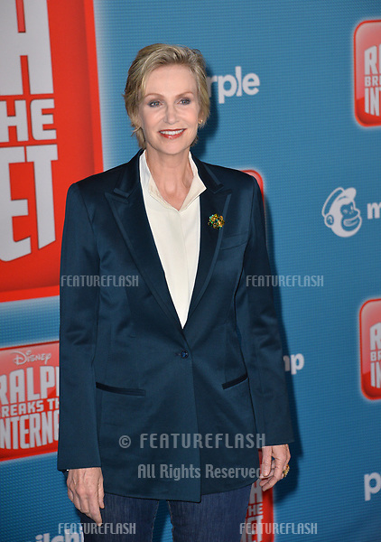 LOS ANGELES, CA. November 05, 2018: Jane Lynch at the world premiere of &quot;Ralph Breaks The Internet&quot; at the El Capitan Theatre.<br /> Picture: Paul Smith/Featureflash