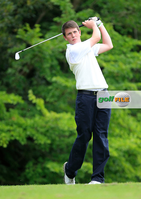 Peter Cummins (Ulster) on the 4th tee during the Boys Under 15 Interprovincial Championship Afternoon Round at the West Waterford Golf Club on Wednesday 22nd August 2013 <br /> Picture:  Thos Caffrey/ www.golffile.ie