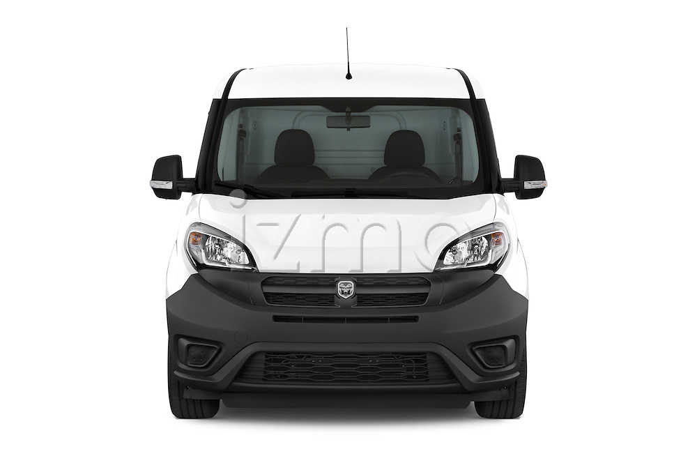 Car photography straight front view of a 2015 Ram Promaster City Trademans 4 Door Cargo Van